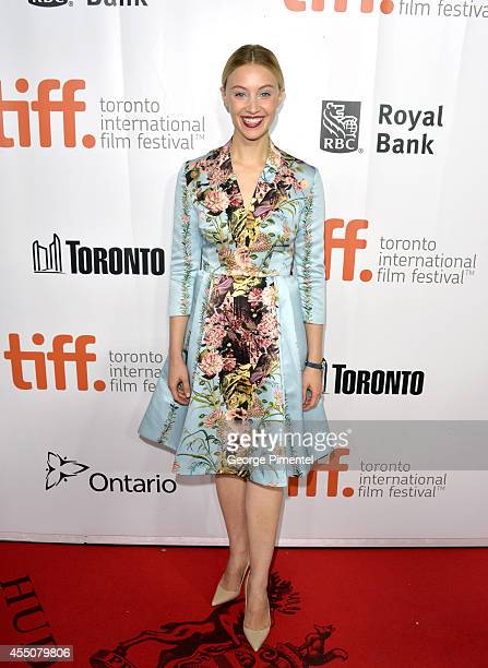 Actress Sarah Gadon attends the Maps To The Stars premiere during the 2014 Toronto International Film Festival at Roy Thomson Hall on September 9...