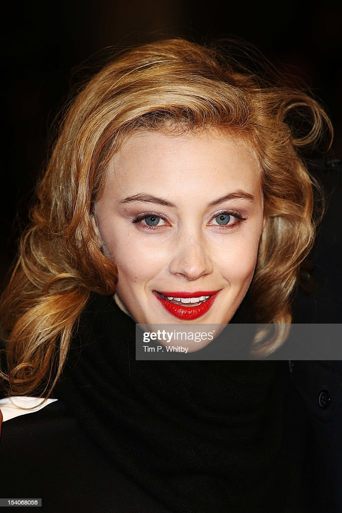Actress Sarah Gadon attends the premiere of 'Antiviral' during the 56th BFI London Film Festival at Odeon West End on October 13, 2012 in London, England.