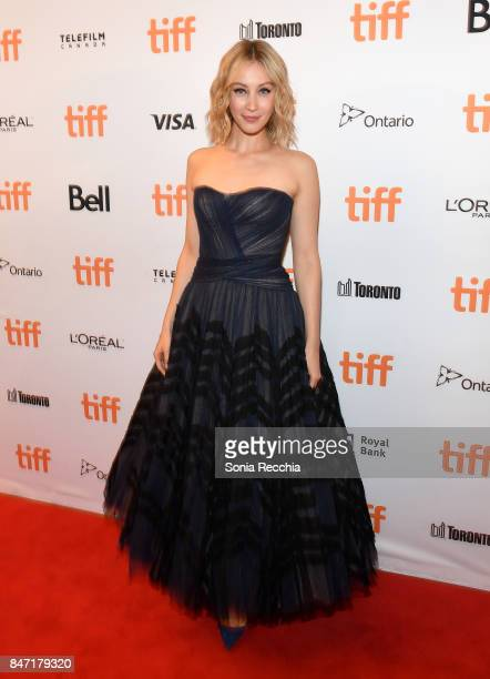 Actress Sarah Gadon attends The World Premiere of the Limited Series Alias Grace starring Sarah Gadon from Sarah Polley directed by Mary Harron at...