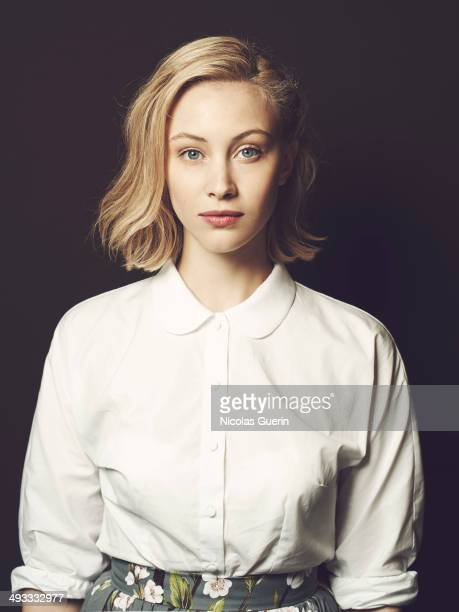 Actress Sarah Gadon poses during the Maps to the Stars portrait session at the 67th Annual Cannes Film Festival on May 18 2014 in Cannes France