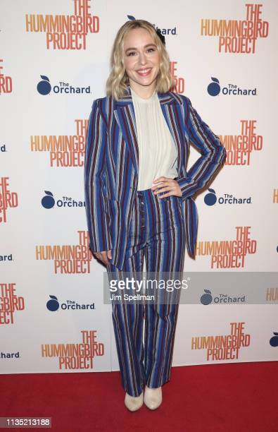 Actress Sarah Goldberg attends the The Hummingbird Project New York screening at Metrograph on March 11 2019 in New York City