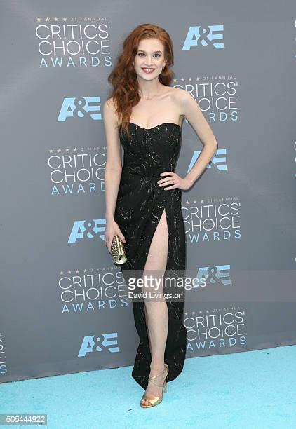Actress Sarah Hay attends The 21st Annual Critics' Choice Awards at Barker Hangar on January 17 2016 in Santa Monica California