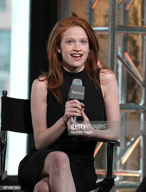 Actress Sarah Hay attends the AOL BUILD Speaker Series to discuss 'Flesh And Bone' at AOL Studios In New York on July 23 2015 in New York City