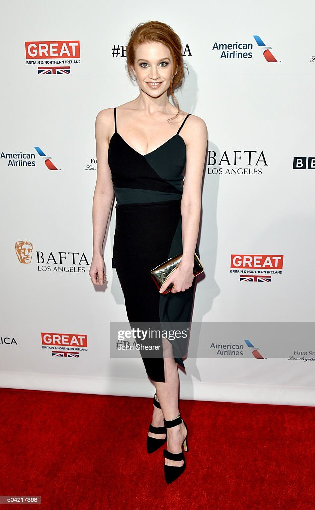Actress Sarah Hay attends the BAFTA Awards Season Tea Party at Four Seasons Hotel Los Angeles at Beverly Hills on January 9, 2016 in Los Angeles, California.