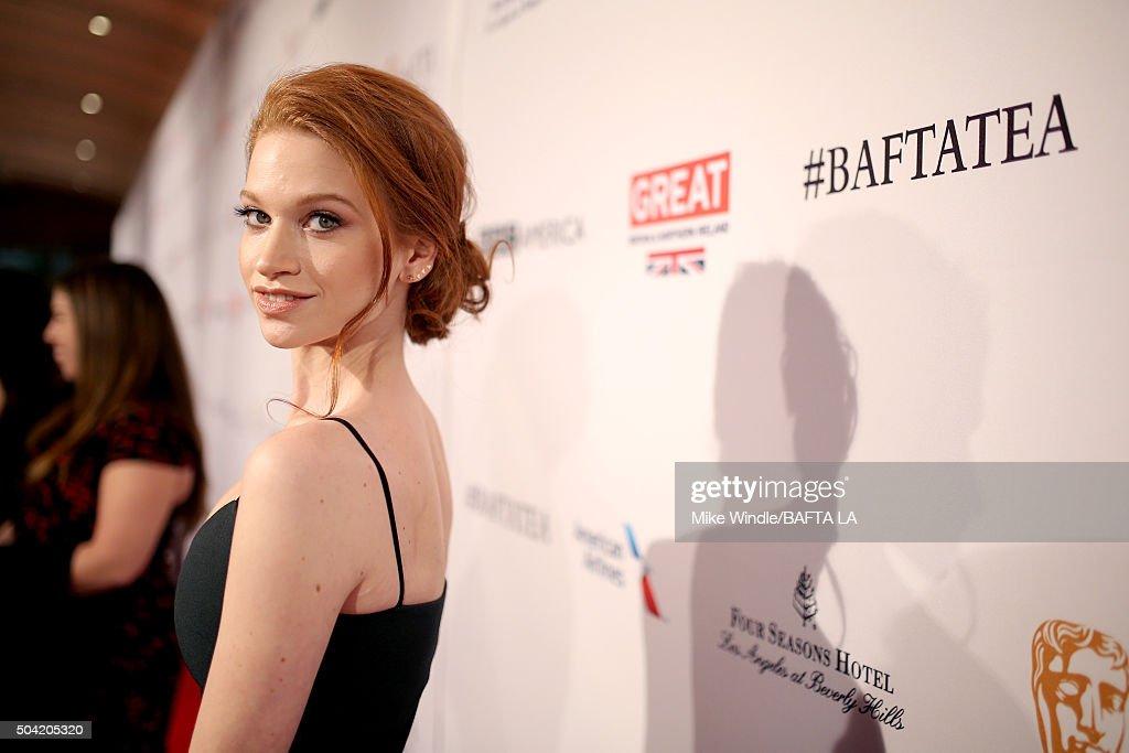 Actress Sarah Hay attends the BAFTA Los Angeles Awards Season Tea at Four Seasons Hotel Los Angeles at Beverly Hills on January 9, 2016 in Los Angeles, California.