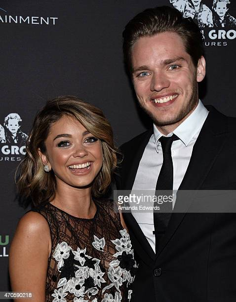 Actress Sarah Hyland and actor Dominic Sherwood arrive at the Los Angeles premiere of 'See You In Valhalla' at the ArcLight Cinemas on April 21 2015...