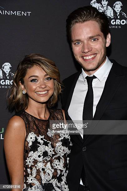 Actress Sarah Hyland and actor Dominic Sherwood arrive at the Los Angeles premiere of See You In Valhalla at the ArcLight Cinemas on April 21 2015 in...