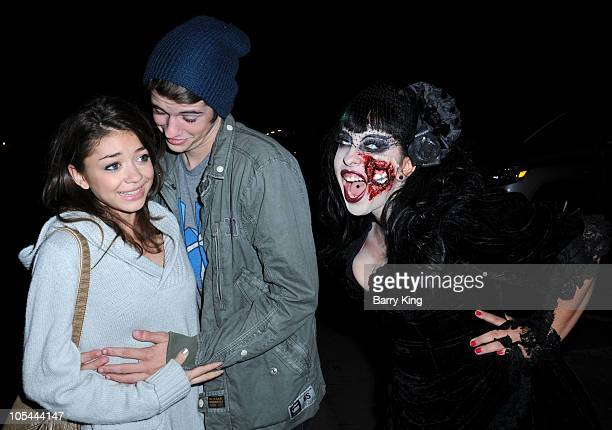 Actress Sarah Hyland and actor Matt Prokop attend Knott's Scary Farm Halloween Haunt at Knott's Berry Farm on October 13 2010 in Buena Park California
