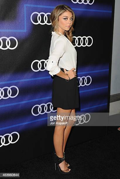Actress Sarah Hyland arrives at Audi Emmy Week Celebration at Cecconi's Restaurant on August 21 2014 in Los Angeles California