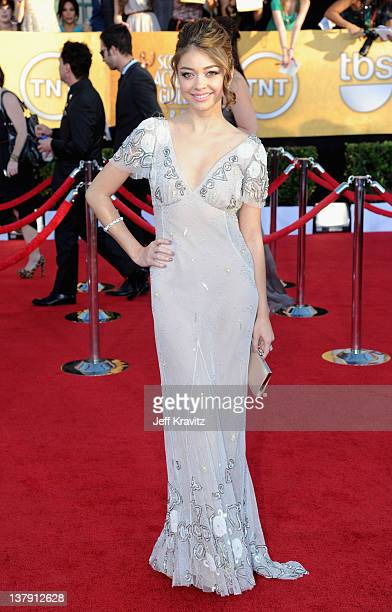 Actress Sarah Hyland arrives at the 18th Annual Screen Actors Guild Awards at The Shrine Auditorium on January 29 2012 in Los Angeles California