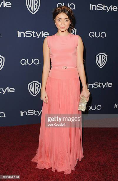 Actress Sarah Hyland arrives at the 2014 InStyle And Warner Bros 71st Annual Golden Globe Awards PostParty on January 12 2014 in Beverly Hills...