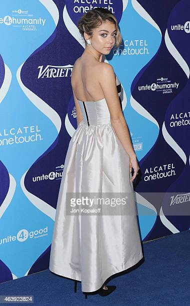 Actress Sarah Hyland arrives at the 2nd Annual Unite4humanity Event at The Beverly Hilton Hotel on February 19 2015 in Beverly Hills California