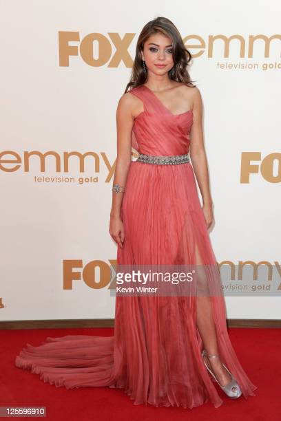 Actress Sarah Hyland arrives at the 63rd Annual Primetime Emmy Awards held at Nokia Theatre LA LIVE on September 18 2011 in Los Angeles California