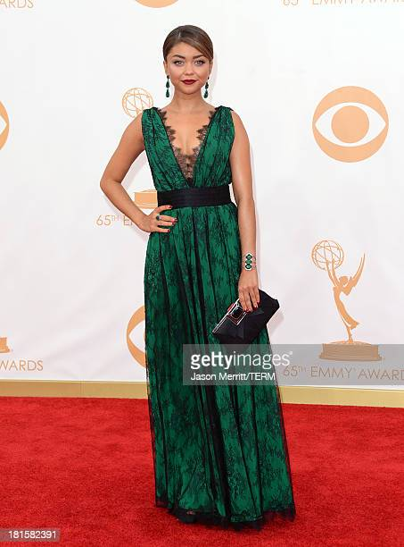 Actress Sarah Hyland arrives at the 65th Annual Primetime Emmy Awards held at Nokia Theatre LA Live on September 22 2013 in Los Angeles California