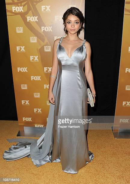 Actress Sarah Hyland arrives at the Fox Broadcasting Company Twentieth Century Fox Television and FX 2010 Emmy Nominee Party held at Cicada on August...