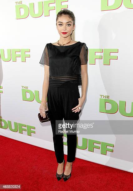 Actress Sarah Hyland attend a special Los Angeles fan screening of THE DUFF on February 12 2015 in Los Angeles California