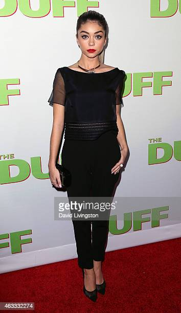 Actress Sarah Hyland attends a fan screening of CBS Films' The Duff at TCL Chinese 6 Theatres on February 12 2015 in Hollywood California