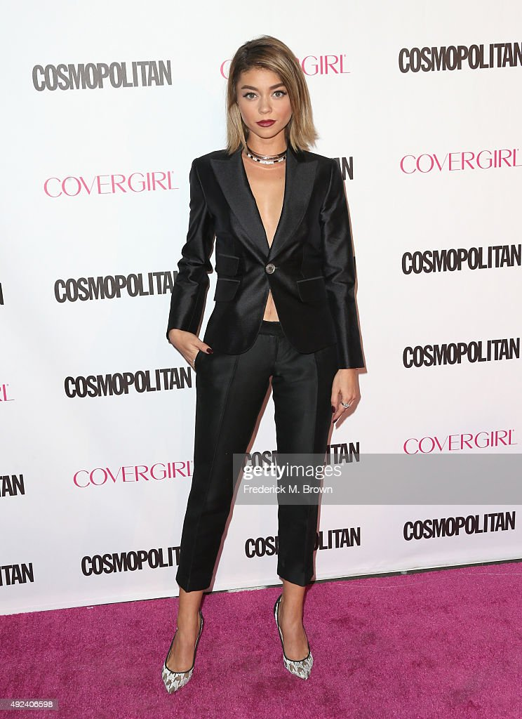 Actress Sarah Hyland attends Cosmopolitan's 50th Birthday Celebration at Ysabel on October 12, 2015 in West Hollywood, California.