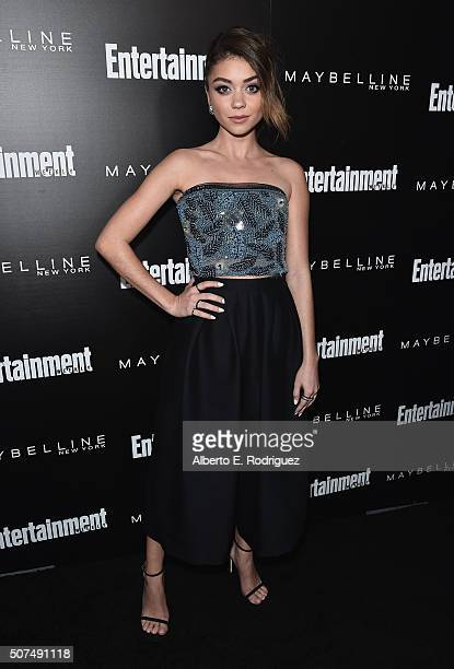 Actress Sarah Hyland attends Entertainment Weekly's celebration honoring THe Screen Actors Guild presented by Maybeline at Chateau Marmont on January...