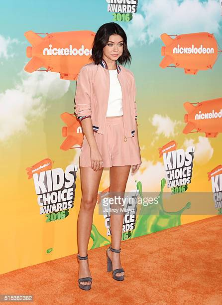 Actress Sarah Hyland attends Nickelodeon's 2016 Kids' Choice Awards at The Forum on March 12 2016 in Inglewood California