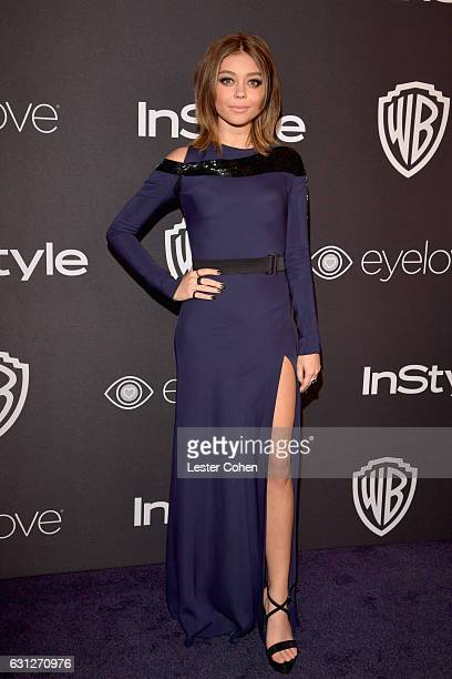 Actress Sarah Hyland attends the 18th Annual PostGolden Globes Party hosted by Warner Bros Pictures and InStyle at The Beverly Hilton Hotel on...