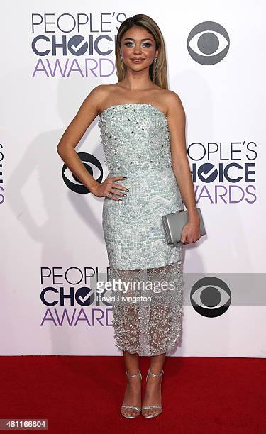Actress Sarah Hyland attends the 2015 People's Choice Awards at the Nokia Theatre LA Live on January 7 2015 in Los Angeles California