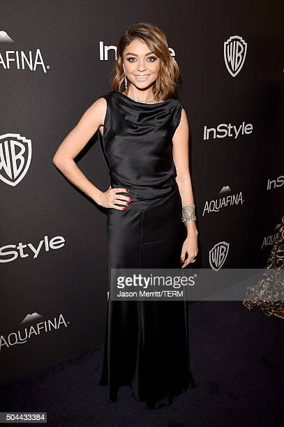 Actress Sarah Hyland attends The 2016 InStyle And Warner Bros 73rd Annual Golden Globe Awards PostParty at The Beverly Hilton Hotel on January 10...