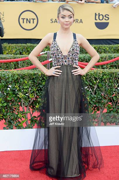 Actress Sarah Hyland attends the 21st Annual Screen Actors Guild Awards at The Shrine Auditorium on January 25, 2015 in Los Angeles, California.