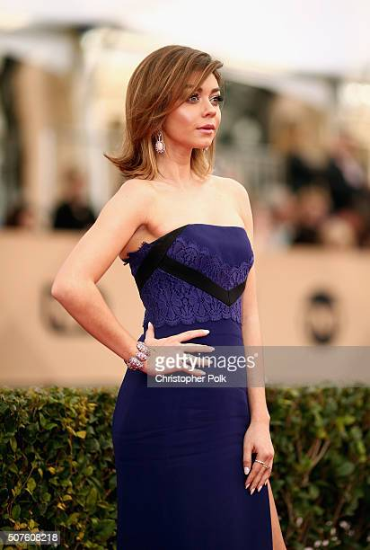 Actress Sarah Hyland attends The 22nd Annual Screen Actors Guild Awards at The Shrine Auditorium on January 30 2016 in Los Angeles California...