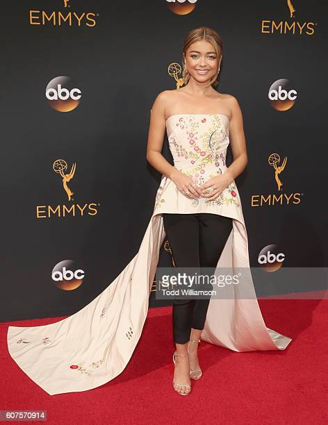 Actress Sarah Hyland attends the 68th Annual Primetime Emmy Awards at Microsoft Theater on September 18 2016 in Los Angeles California