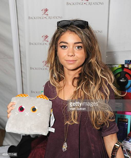 Actress Sarah Hyland attends the Backstage Creations Celebrity Retreat at Teen Choice 2014 Day 1 on August 9 2014 in Los Angeles California