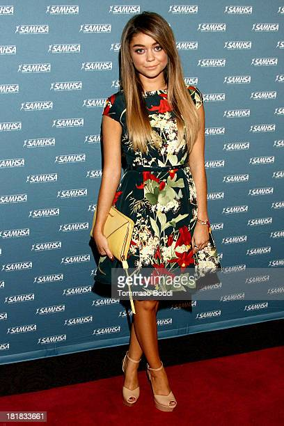 Actress Sarah Hyland attends the Substance Abuse and Mental Health Services Administration's 2013 Voice Awards held at Paramount Theater on the...