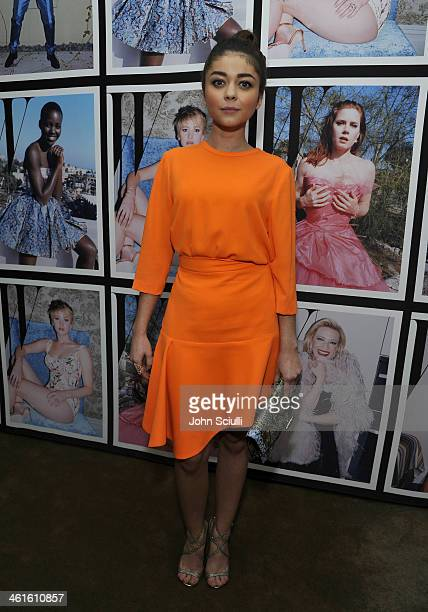 Actress Sarah Hyland attends the W Magazine celebration of The 'Best Performances' Portfolio and The Golden Globes with Cadillac and Dom Perignon at...