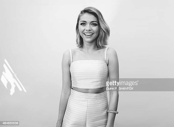Actress Sarah Hyland for a portrait during the 2015 Teen Choice Awards FOX Portrait Studio at Galen Center on August 16 2015 in Los Angeles California