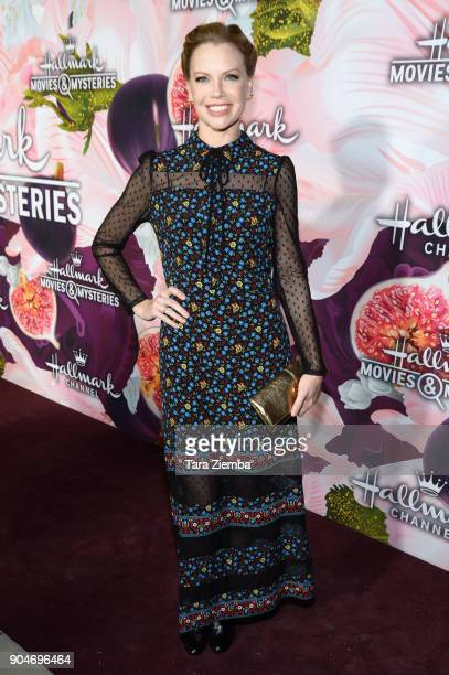 Actress Sarah Jane Morris attends Hallmark Channel And Hallmark Movies and Mysteries Winter 2018 TCA Press Tour at Tournament House on January 13...