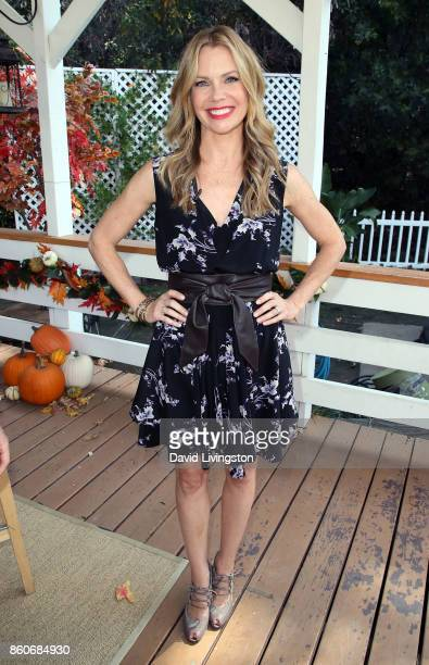 """Actress Sarah Jane Morris attends Hallmark's """"Home & Family"""" at Universal Studios Hollywood on October 12, 2017 in Universal City, California."""