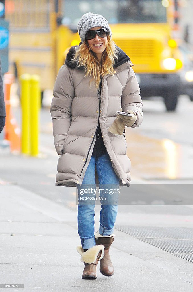 Actress Sarah Jessica as seen on February 5, 2013 in New York City.