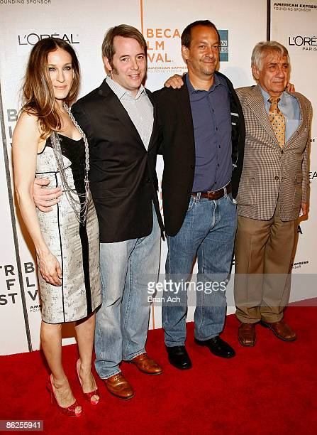 Actress Sarah Jessica Parker actor Matthew Broderick director Joshua Goldin and actor Phillip Baker Hall attend the 8th Annual Tribeca Film Festival...