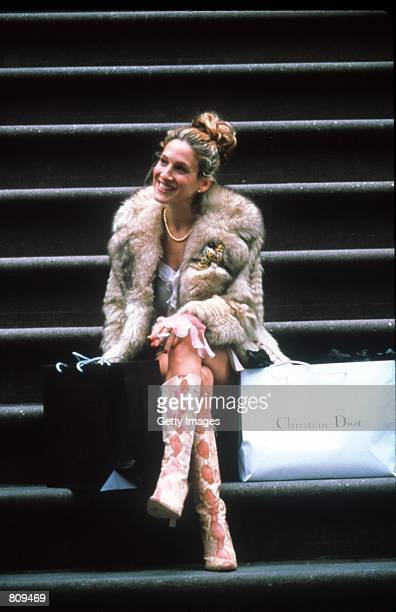 Actress Sarah Jessica Parker acts in a scene from the HBO television series Sex and the City third season episode Where There's Smoke