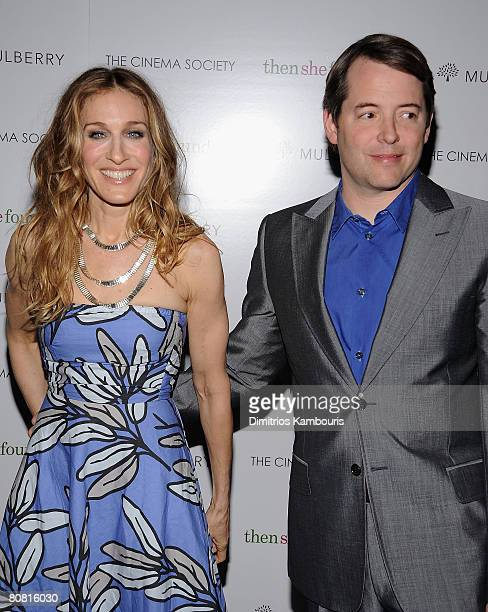 Actress Sarah Jessica Parker and actor Matthew Broderick arrive at the New York Premiere of THINKFilms thenshefoundme HOsted by The Cinema Society...