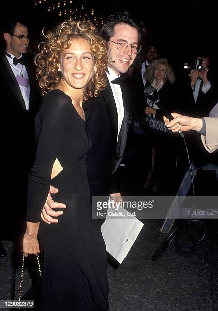 Actress Sarah Jessica Parker and actor Matthew Broderick attend the 47th Annual Tony Awards on June 6, 1993 at the Gershwin Theatre in New York City.