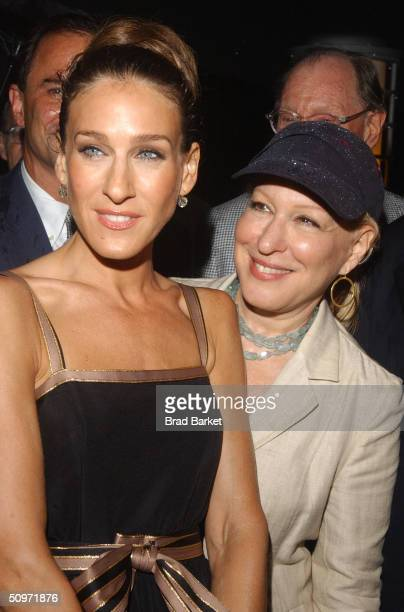 Actress Sarah Jessica Parker and Bette Midler arrive at the New York Restoration Project and The First Boathouse on the Harlem River celebration on...