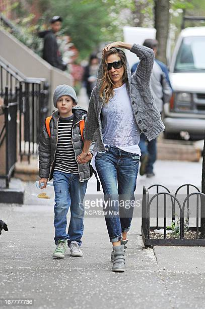 Actress Sarah Jessica Parker and James Wilkie Broderick as seen on April 29, 2013 in New York City.