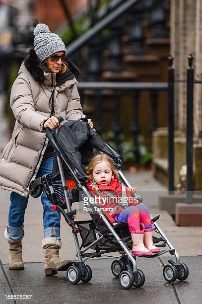 Actress Sarah Jessica Parker and Marion Broderick walk to school on December 17 2012 in New York City