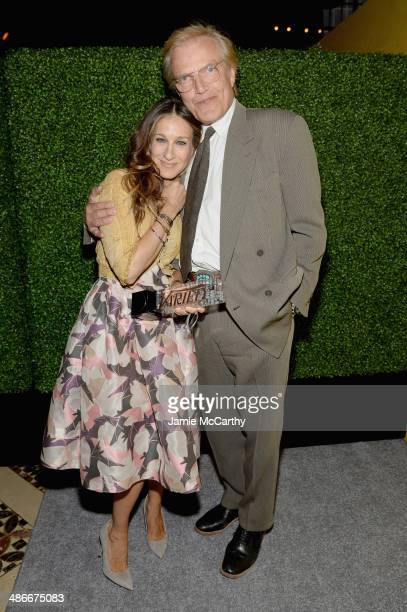 Actress Sarah Jessica Parker and New York City Ballet Master in Chief Peter Martins attend Variety Power Of Women: New York presented by FYI at...