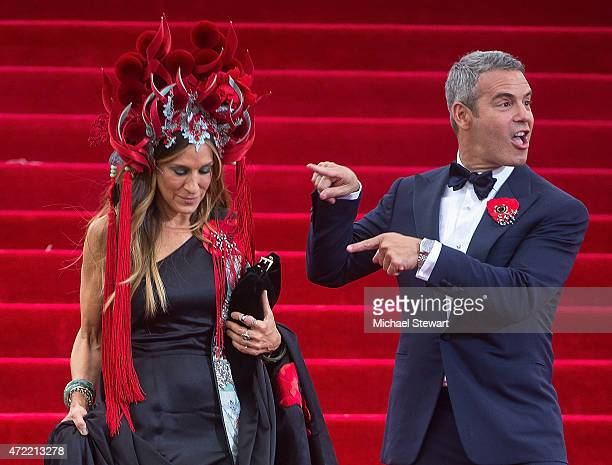 Actress Sarah Jessica Parker and tv personality Andy Cohen attend the 'China Through The Looking Glass' Costume Institute Benefit Gala at...