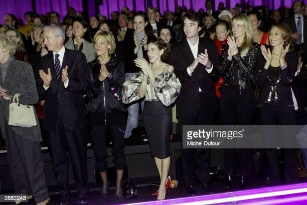 Actress Sarah Jessica Parker Antoine Arnault and Delphine Arnault son and daughter of LVMH Chairman Bernard Arnault and actress Marisa Berenson...