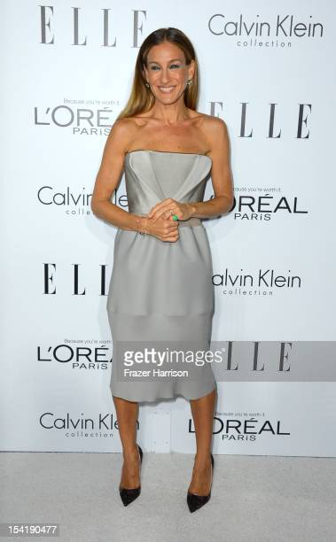Actress Sarah Jessica Parker arrives at ELLE's 19th Annual Women In Hollywood Celebration at the Four Seasons Hotel on October 15, 2012 in Beverly...