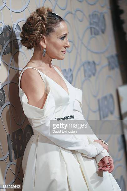 Actress Sarah Jessica Parker arrives at HBO's Official Golden Globe Awards after party at the Circa 55 Restaurant on January 8 2017 in Los Angeles...