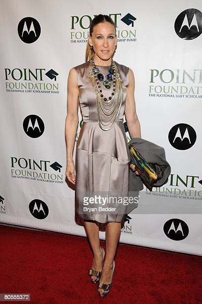 Actress Sarah Jessica Parker arrives at the Point Foundation hosts Point Honors The Arts at Capitale on April 7 2008 in New York City